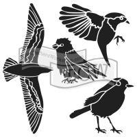 """Šablona 12""""x12"""" (30,5 x 30,5 cm), Bird gathering"""