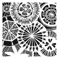 """Šablona 6""""x6"""" (15,2 x 15,2 cm), Floral Spectacle"""
