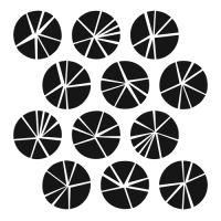 "Šablona 12""x12"" (30,5 x 30,5 cm), Shattered Circles"