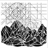 "Šablona 12""x12"" (30,5 x 30,5 cm), Geometric landscape"