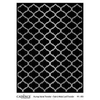 Transferový obrázek na textil - stříbrná mříž