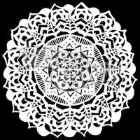 "Šablona 12""x12"" (30,5 x 30,5 cm), Fancy Mandala"