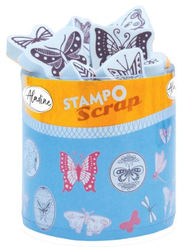 Aladine razítka StampoScrap, motýlci
