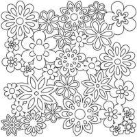 """Šablona 6""""x6"""" - zahradní květiny, Gathered Flowers, mini"""