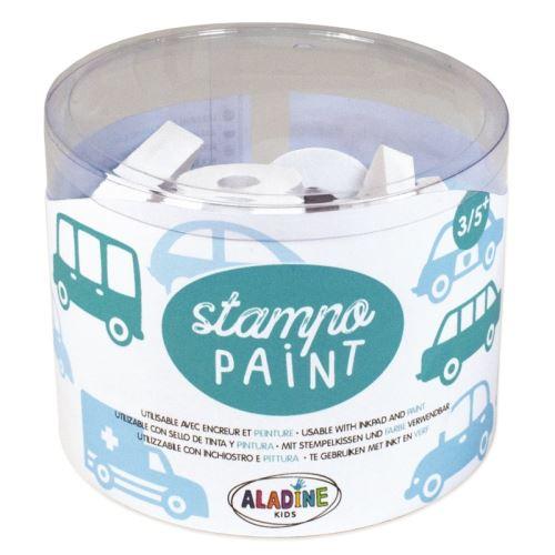 Malovací pěnová razítka StampoPaint - Auta