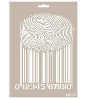 Šablona Cadence, 25x30 cm - čárový kód