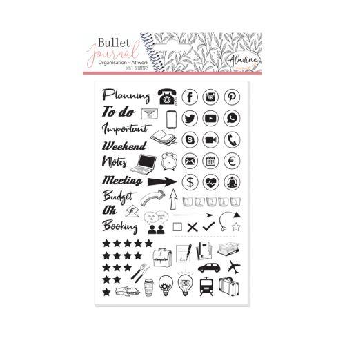 Diářová razítka Aladine Stampo BULLET JOURNAL - Můj pracovní den 1