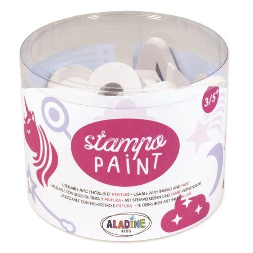 StampoPaint, malovací pěnová razítka - jednorožci