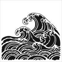 "Šablona 6""x6"" (15,2 x 15,2 cm), Wave"