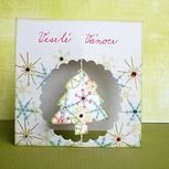 9. Vánoční přání se stromečkem