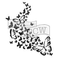 """Šablona 6""""x6"""" , Butterfly trail, mini"""