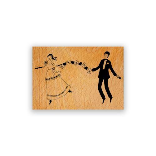 Dřevěné razítko - Svatební girlanda 1