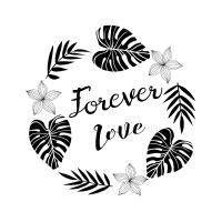 Dřevěné razítko, velikost F - láska navždy