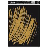Zlatá nažehlovací nálepka, 21x30 cm, zlatá čmáranice