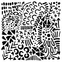 "Šablona 12""x12"" (30,5 x 30,5 cm), Texture Love"