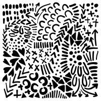 "Šablona 6""x6"" (15,2 x 15,2 cm), Texture Love"