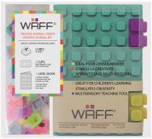 Kreativní deník WAFF, velikost A6, glitter malachite