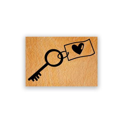 Dřevěné razítko - Klíč ke štěstí 1