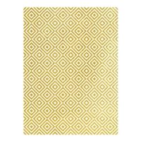 Rýžový papír A3 - metalické kosočtverce- zlaté