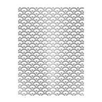 Rýžový papír A3 - metalické vlnky - stříbrné