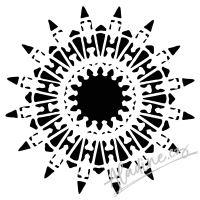 "Šablona 6""x6"" (15,2 x 15,2 cm), Native Star"