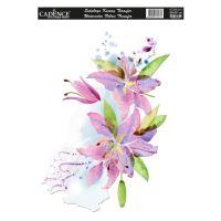 Nažehlovací nálepka,25x35 cm, akvarelová - lilie