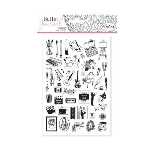 Diářová razítka Aladine Stampo BULLET JOURNAL - Koníčky 1