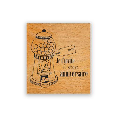 Dřevěné razítko - Narozeninový automat na žvýkačky 1