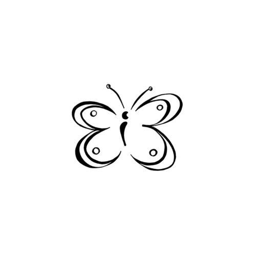 Dřevěné razítko, velikost B - motýl