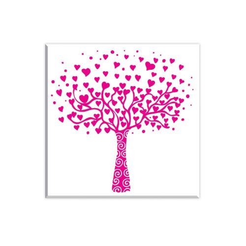 Dřevěné razítko - Srdíčkový strom 1