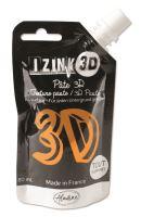 Reliéfní pasta, 3D IZINK, 80 ml - safran, oranžová