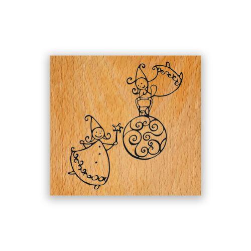Dřevěné razítka - Vánoční víly 1
