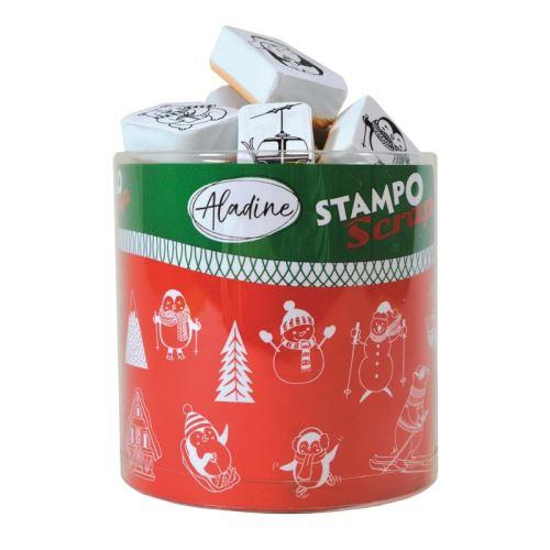 Aladine razítka StampoScrap, zimní hrátky