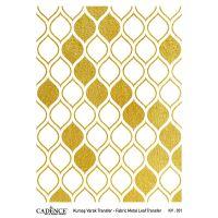 Transferový obrázek na textil - zlaté citrony