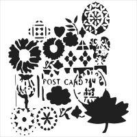 """Šablona 6""""x6"""" , Postcard, mini"""