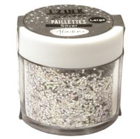 Diamantové třpytky - stříbrná