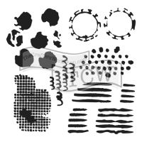 "Šablona 12""x12"" (30,5 x 30,5 cm), Distressed Details"