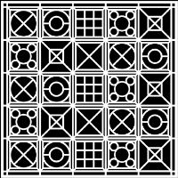 "Šablona 12""x12"" (30,5 x 30,5 cm), Signals"
