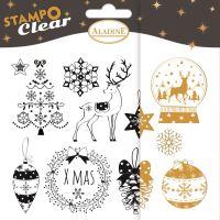 Gelová razítka StampoClear, Vánoce v klasickém stylu