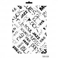 Šablona Cadence, 25x30 cm - muzika