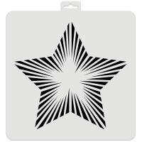 Aladine šablona, 28x28cm - hvězda