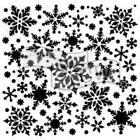 "Šablona 6""x6"" , Snowflakes, mini"