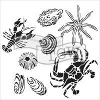 "Šablona 12""x12"" (30,5 x 30,5 cm), Gulf Coast Creatures"