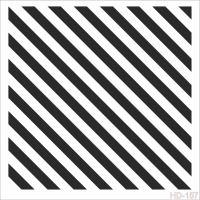 Šablona Cadence, kolekce HomeDeco, 45x45 cm - šikmé proužky