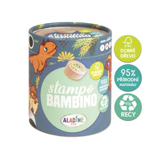Dřevěná dětská razítka Stampo BAMBINO - Dinosauři 1