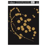 Zlatá nažehlovací nálepka, 21x30 cm, zlaté cákance