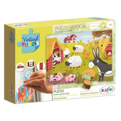 Vertikální puzzle, Farma, 24 dílků