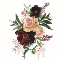 Nažehlovací nálepka, květiny 2 - 25 x 35 cm