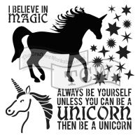"Šablona 12""x12"" (30,5 x 30,5 cm), Unicorn"
