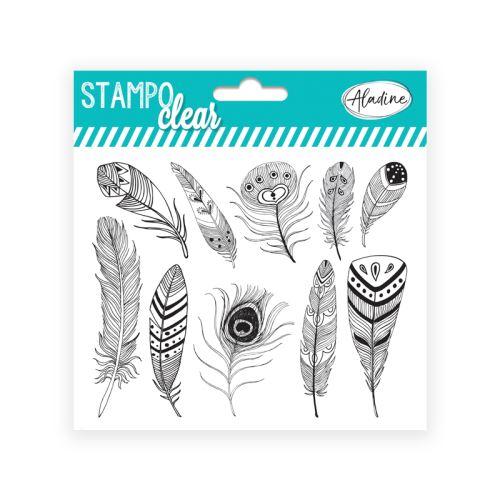 Gelová razítka Stampo CLEAR - Peří 1